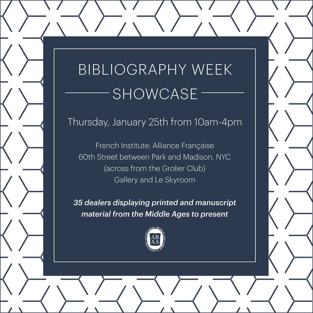 ABAA Bibliography Week Showcase 2018