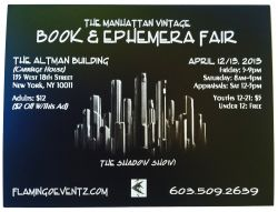 Manhattan Vintage Book & Ephemera Fair 2013