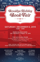 Brooklyn Holiday Book Fair 2014