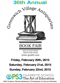 Greenwich Village Antiquarian Book Fair 2015