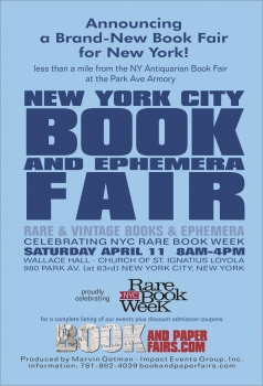 New York City Book and Ephemera Fair 2015