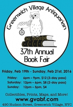 Greenwich Village Antiquarian Book Fair 2016