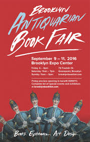Brooklyn Antiquarian Book Fair 2016