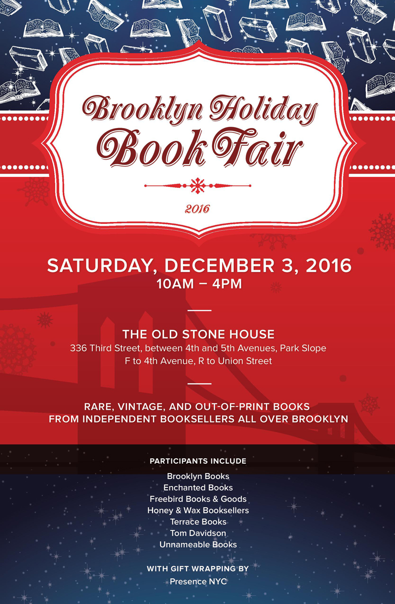 Brooklyn Holiday Book Fair 2016