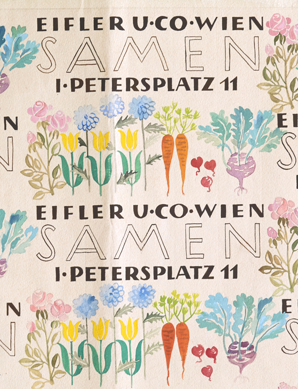 Wrapping Paper Design For The Eifler Seed Company By Design Helga Janetschek Becker On Honey Wax Booksellers