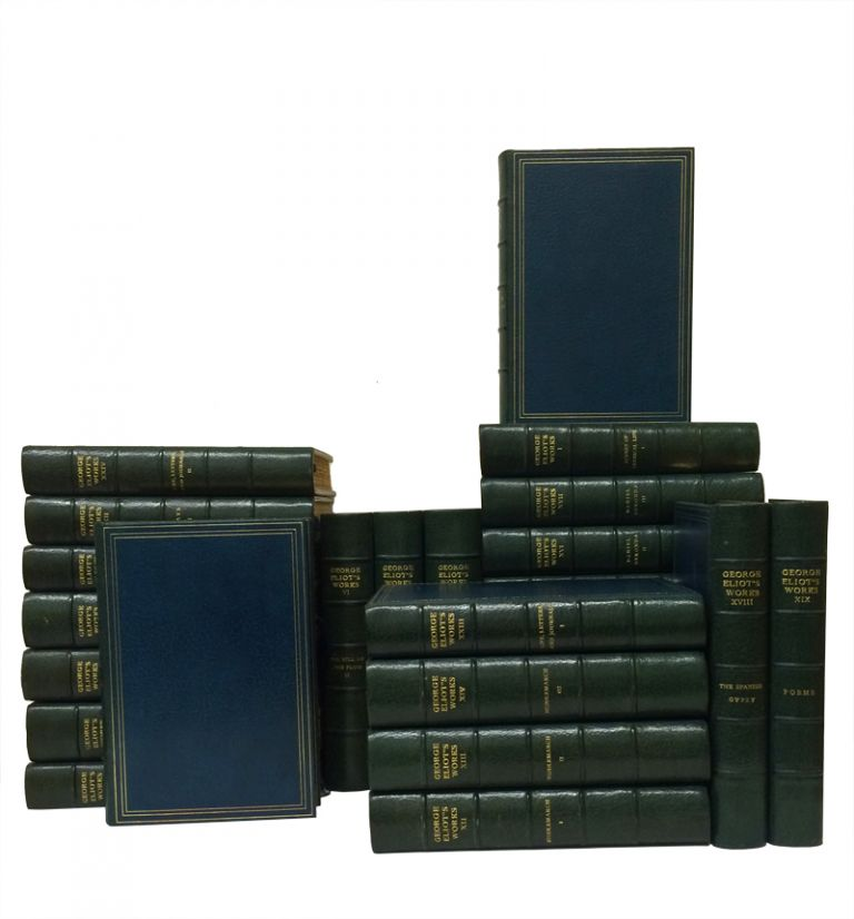 The Writings of George Eliot, Handsomely Bound, With a Four-Page Signed Letter in Eliot's Hand