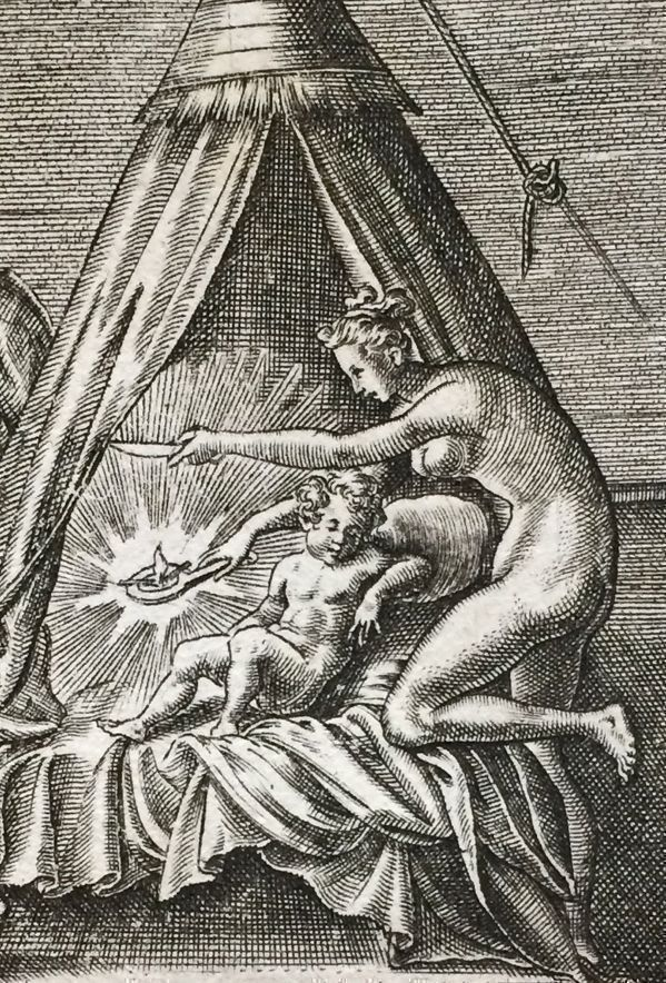 Leonard Gaultier's Fully Engraved Cupid and Psyche, 1590, Based on The Golden Ass of Apuleius