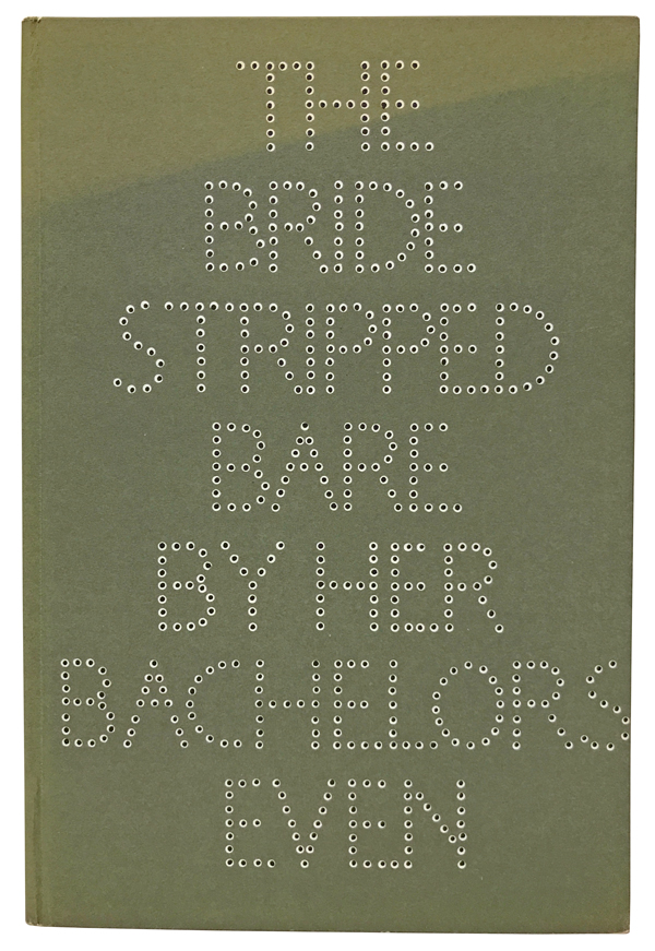 The Bride Stripped Bare by her Bachelors, Even. A Typographic Version by Richard Hamilton of Marcel Duchamp's Green Box, Translated by George Heard Hamilton. With: presentation card from dedicatees Bill and Noma Copley. Marcel Duchamp, Richard Hamilton, George Heard Hamilton, William and Noma Copley, designer.