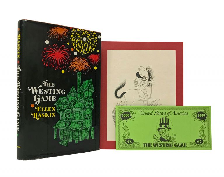 The Westing Game; with: Newbery and Caldecott Awards dinner program for 1979; with: The Westing Game souvenir $1000 bill. Ellen Raskin, Paul Goble.
