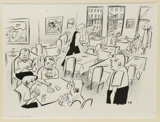 """Legends of the Infinite City: Drawings of New York; WITH: framed original pen-and-ink drawing, """"First Date"""""""