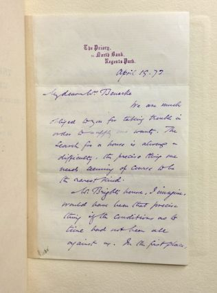 The Writings of George Eliot, Together with the Life by J.W. Cross; WITH: autograph letter signed by George Eliot as M.E. Lewes