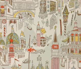 """Venecia"" (wallpaper sample). DESIGN, Laetitia Cerio."