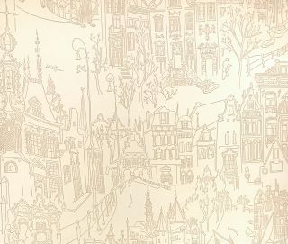 """Amsterdam"" (wallpaper sample). DESIGN, Laetitia Cerio"