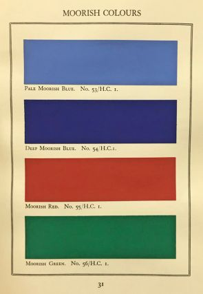 A Tint Book of Historical Colours Suitable for Decorative Work. De Luxe Edition