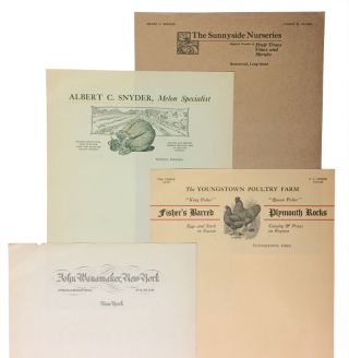 Collection of American business letterhead samples