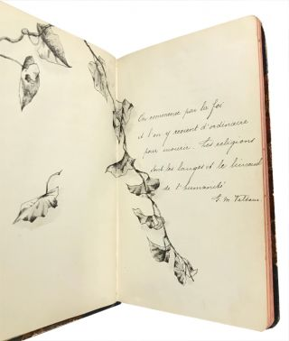 "Illuminated Belle Époque commonplace book by ""Alice"""