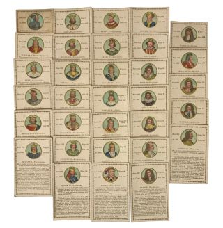Historical Cards, Exhibiting the History of England. MONARCHY.