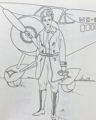 The National Women's Hall of Fame Coloring Book. Volume 1