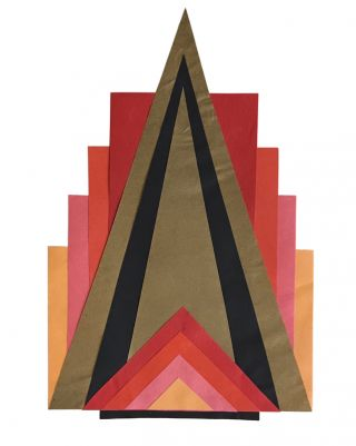 Art Deco Design Notebook, with Original Painted and Collaged Compositions