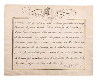Early American calligraphic French lesson. MANUSCRIPT, Lewis C. Vaughan
