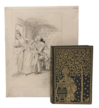 Evelina, or The History of a Young Lady's Entrance into the World; with: original pen-and-ink...