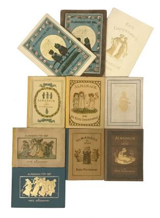 Complete set of Almanacks, inscribed by Kate Greenaway