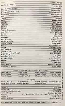 RSC in Macbeth by William Shakespeare (theater program)