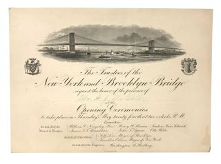 Engraved invitation to the opening ceremonies of the Brooklyn Bridge. EPHEMERA