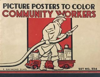 Picture Posters to Color: Community Workers