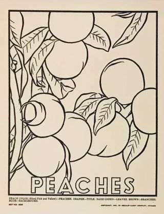 Picture Posters to Color: Fruits and Vegetables
