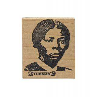 Rubber stamp featuring Harriet Tubman, for use on the United States $20 bill. Harriet Tubman